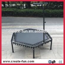 CreateFun Hot Sale 53 Inch Cheap Indoor Exciting Bungee Mini Jumping Hexagonal Trampoline