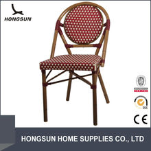 Foshan Factory stack wicker stainless steel outdoor chairs
