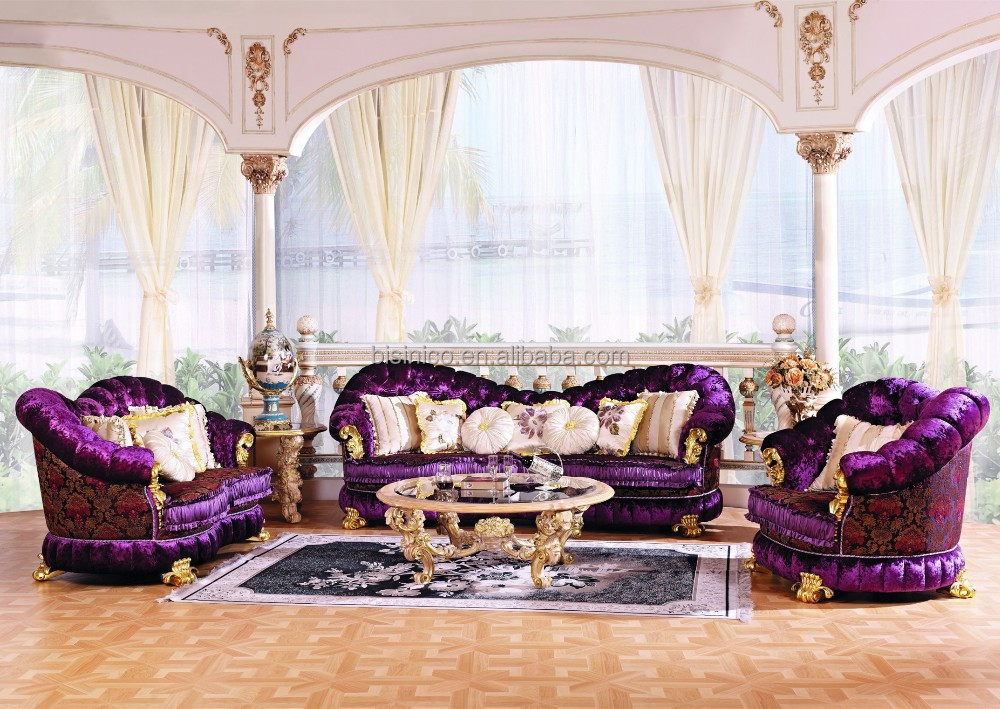 Luxury Baroque Style Living Room Furniture Sofa Set European Classic