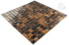 Stock Clear building materials cheap price glass mosaic tile paper-mounted