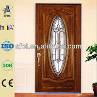 Zhejiang AFOL commercial fiberglass door and door skin used in SMC on hot sale