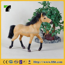 Decorative crafts black tail and legs horse garden ornaments