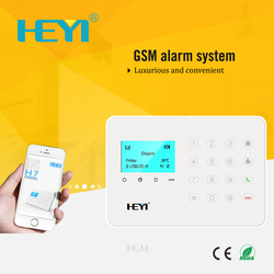 2015 New Touch Keyboard Mobile Display GSM Alarm System With APP Control