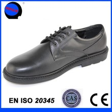 China mainland shoe maker black military police shoes
