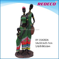 New design home decorative resin african family