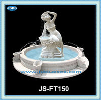 Lady Statue Sculptured Big And Super Luxury Marble Carved Water Fountain