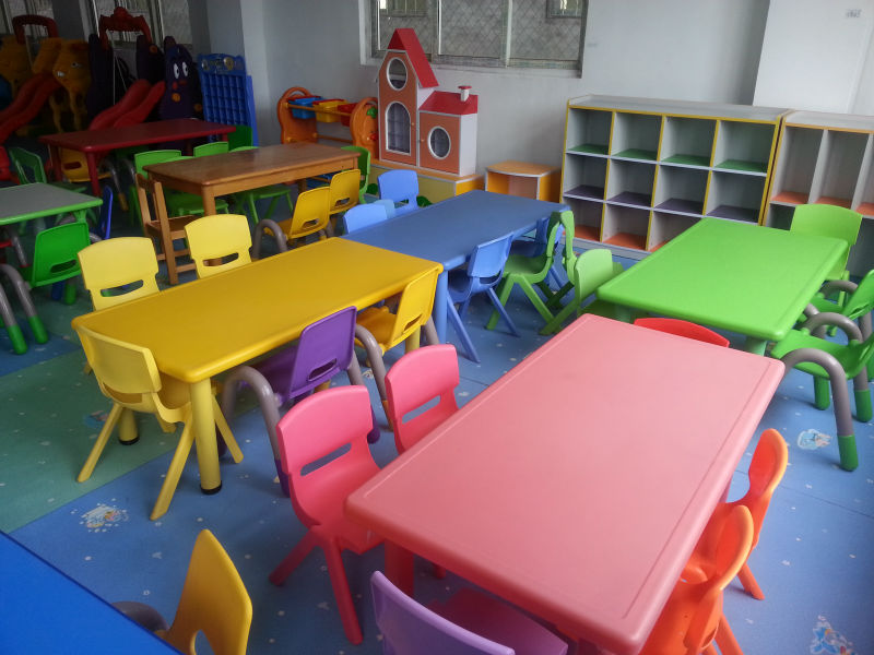 Toddler plastic table and chairs - Preschool Square Table And Chairs Kids Billiard Table