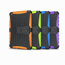 Super Strong PC+Silicone Hybrid Case for iPad mini 4, For iPad mini 4 Combo Case With Kickstand Design