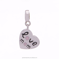 925 Sterling Silver Jewelry Heart Pendant Wholesale 925 Sterling Silver Love Charms S147