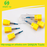 Good prize carbid end mill,2.5mm diameter HRC65 ,small milling cutter.