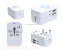 multi-nation travel adapter plug with usb port for promotion
