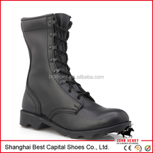 promotion price tactical black leather swat boot with hot selling