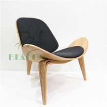 CH07 Wegner Shell Plywood Lounge Chair