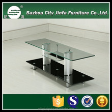 SIMPLE TRANSPARENT TEMPERED GLASS TV STANDS TV-5