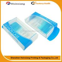 Custom logo clear pp pvc plastic packaging box for cell phone case