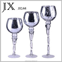 cheap whole metal color glass candle holders,glass vase for wedding decoration