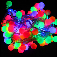 LED twinkling Holiday Christmas lights;ball type;10M 100LED Ball String Lights Waterproof+220~240V Power Plug