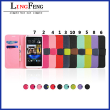 High quality PU+TPU flip cell phone case for HTC desire 816
