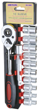 "1/2"" Dr Short Socket Wrench Set, 6PT Socket Set"