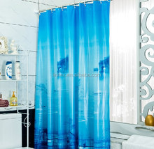 100% polyester satin damask printed or plain dyed colored hotel bathroom shower curtain