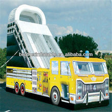 New fire truck inflatable slide