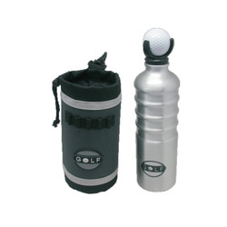 750ml BPA free aluminum sports water bottle with neoprene pouch