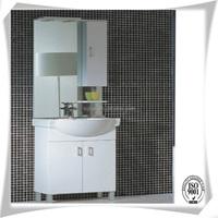 modern PVC bathroom cabinet with ceramic wash basin
