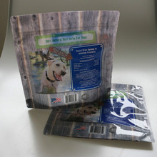 Food safe plastic bags/12oz dog natural food bag/packaging stand up pouch