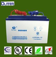high quality 12v 90ah agm/vrla/popzv battery