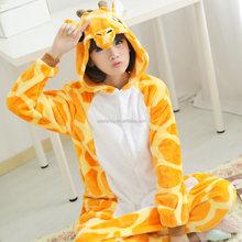 Best seller giraffe animal adult pajamas plain adult onesie QWAO-5059