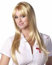 silky straight kanekalon synthetic wigs light blonde