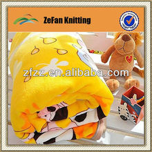 2013 New style knitted cartoon baby blankets wholesale