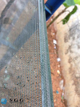 Top quality stainless steel wire mesh laminated glass tempered