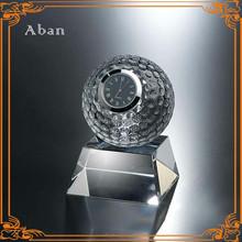 Business gift Globe crystal award clock