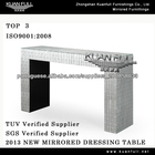 elegant classic concise mirrored console table