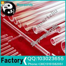 Clear large diameter 22mm quartz glass tube