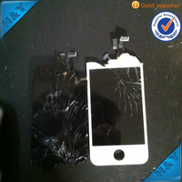 Black 4.7 inch IPS full front touch screen digitizer lcd display repair assembly for iphone 4 4s 5 5s 6 plus