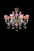 2015 flower crown glass chandelier pendant lamp for decoration