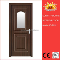 PVC coated carving wooden main entrance door designs SC-P032