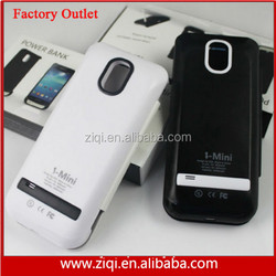 removeable battery case for s4 mini battery power case 2600mah