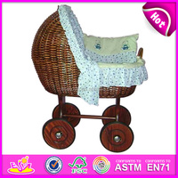2015 Fashion cheap doll sleep crib for kids,rattan doll cot toy for children,hot sale rattan doll bed for baby WJ278226