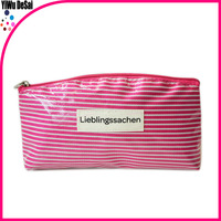 2016 new product wholesale Promotional Fashion Beautiful pvc Cosmetic Bag With Handle And Zipper Closure