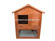 2015 hot sale chaep wooden double decker rabbit hutch house950X783X1200MM