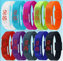 2015 Wholesale water resist fashion cheap silicone digital led watch