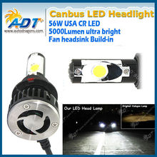 The 3rd generation 9004 9007 high low beam led headlight, 5000lm headlamp for cars