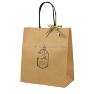 Free shipping,Factory sale Natural kraft paper bag with handle Wedding Favors Gift Paper Bags 21*15*8cm STD01-6