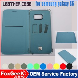 Factory for samsung galaxy leather case wholesale for samsung galaxy S6 leather galaxy S6 wallet case