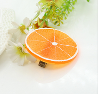2015 new fashion Fresh summer fruit Hairpin orange hair accessories personality