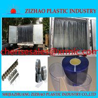 Alibaba ZIZHAO 2mm thickness transparent plastic pvc strip curtain