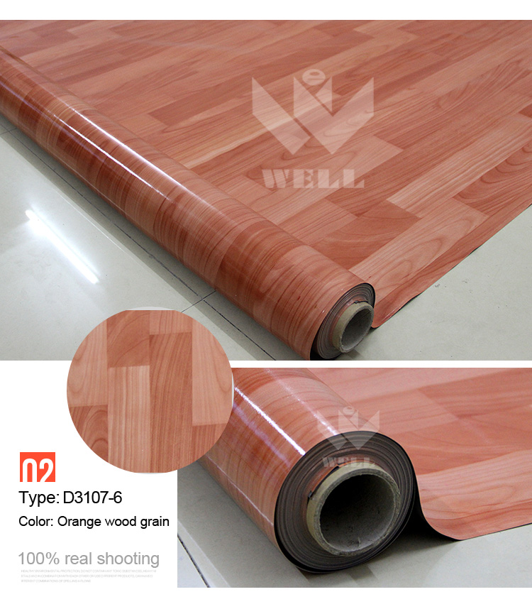 Pvc Floor Covering : Pvc floor covering for indoor usage natural wood looking